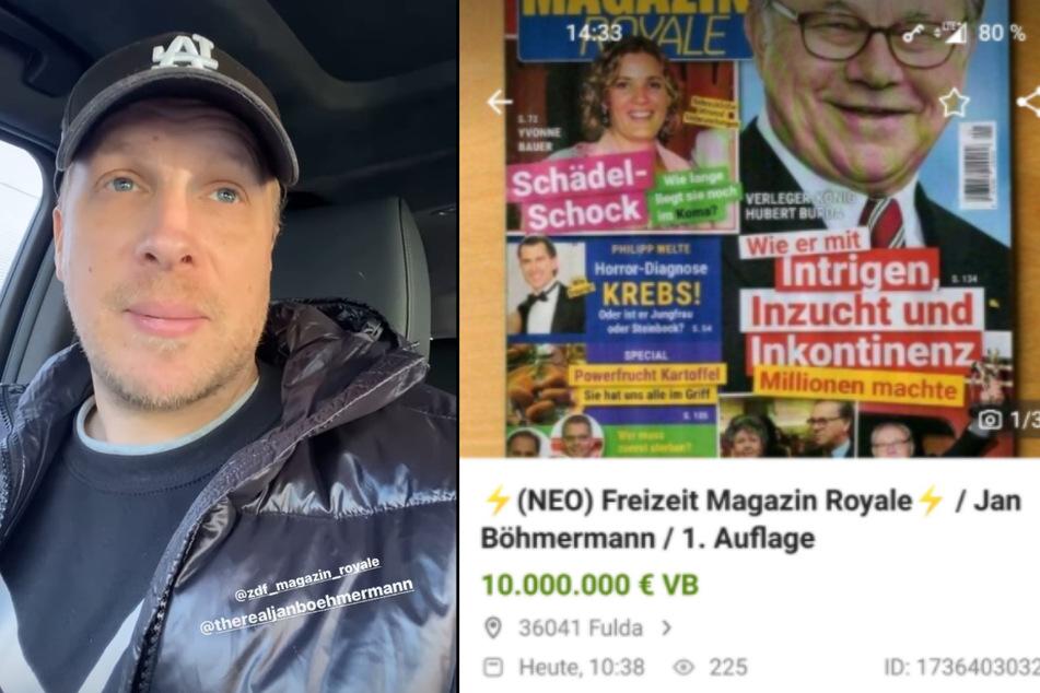 """Oliver Pocher (43) wollte ein Exemplar des """"Freizeit Magazin Royale"""" erwerben, zog aber mit leeren Händen von dannen. (Fotomontage)"""