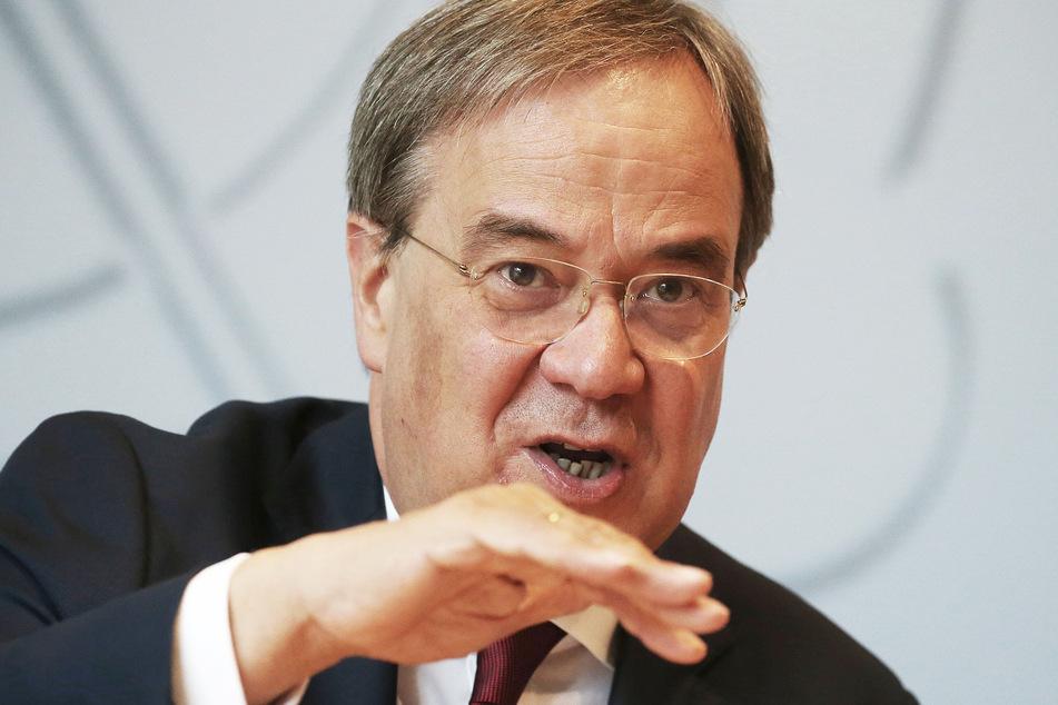 Armin Laschet (CDU), Ministerpräsident von Nordrhein-Westfalen, spricht in der Landespressekonferenz.