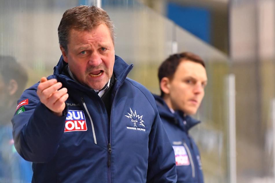 Eislöwen-Coach Andreas Brockmann wurde mehrfach laut auf der Bank.