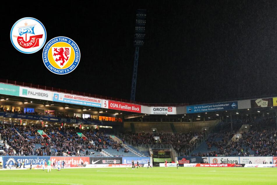 Nach 49 Sekunden! Flutlicht streikt bei Rostock gegen Braunschweig