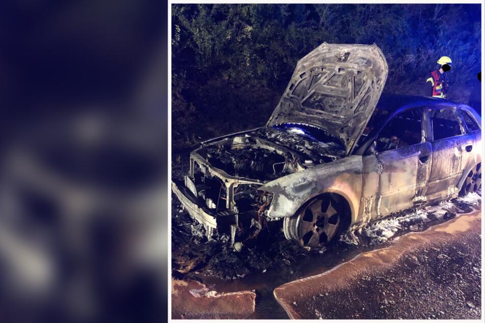 Der Fahrer des Audi A3 konnte sein Auto glücklicherweise noch rechtzeitig auf dem Standstreifen abstellen.