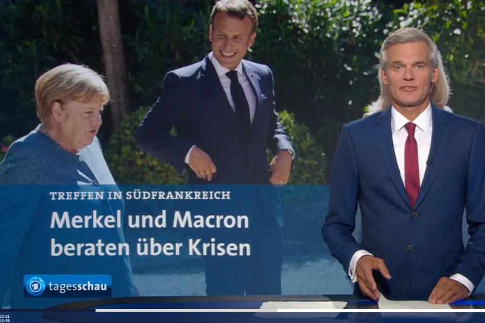In der Tagesschau-Sendung am Donnerstag sah es so aus, als habe Thorsten Schröder lange blonde Haare.