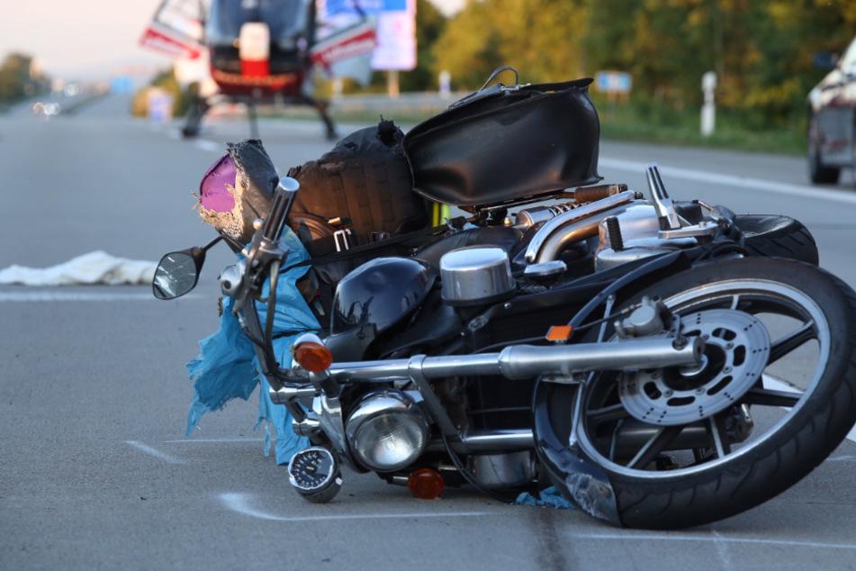 Der Biker verlor die Kontrolle über seine Kawasaki Vulcan.