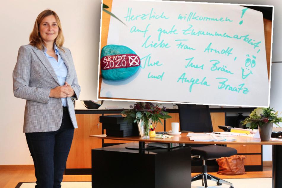 Constance Arndt zieht ins Rathaus: So lief der erste Tag als Zwickauer Oberbürgermeisterin