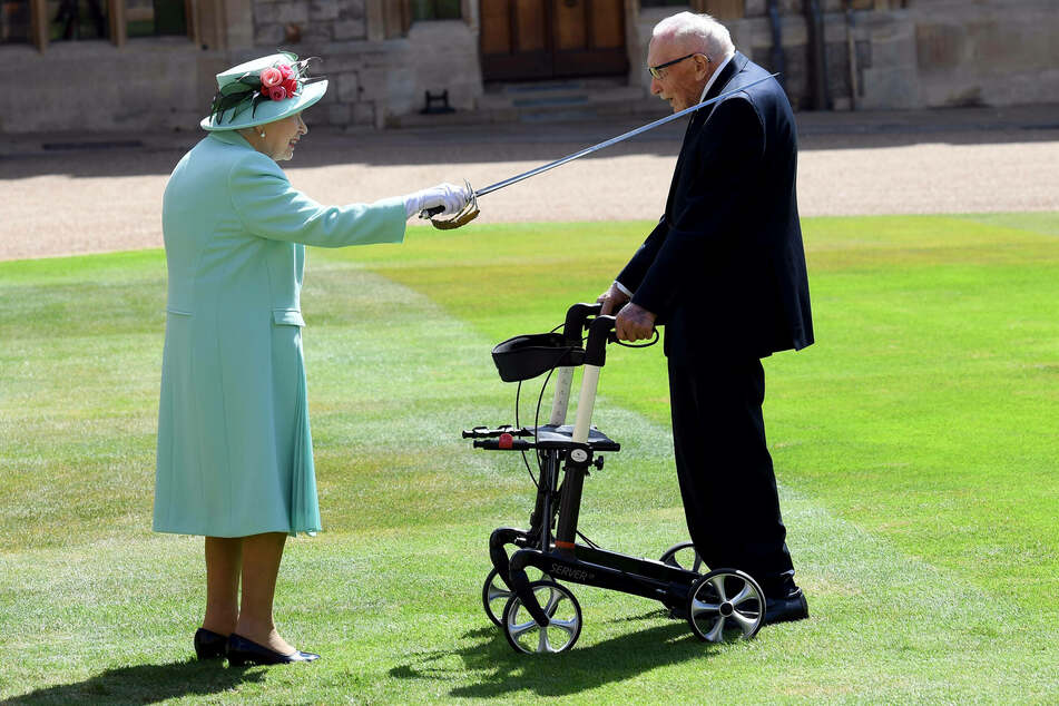 Captain Sir Tom Moore was knighted by Queen Elizabeth after his amazing fundraising efforts.