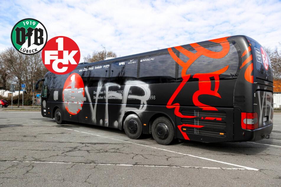 Feuerwerk, Feueralarm! Mannschaftsbus des FCK vor Kellerduell beschmiert