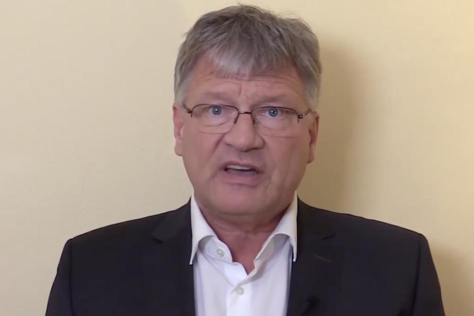 Jörg Meuthen in seinem Facebook-Video. (Screenshot)