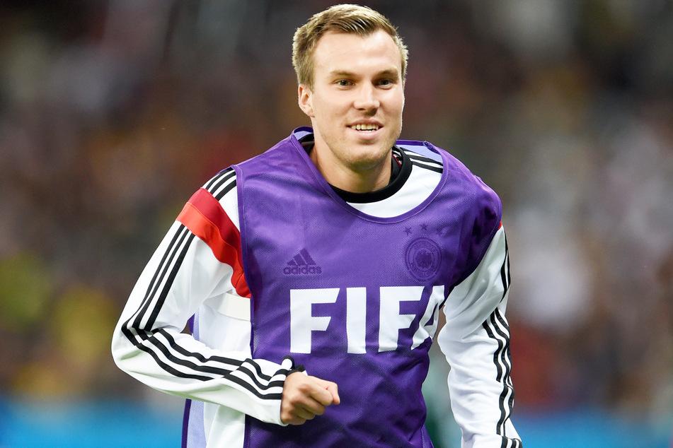 Der ehemalige Nationalspieler Kevin Großkreutz (32) während einer Trainingseinheit zur WM in Brasilien.