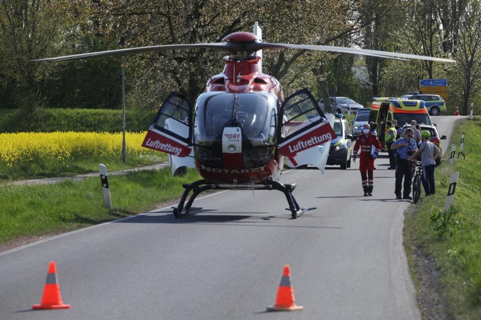 Der zwölfjährige Junge wurde mit dem Rettungshubschrauber in ein Krankenhaus gebracht.
