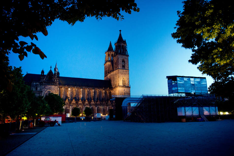 Der Magdeburger Domplatz.