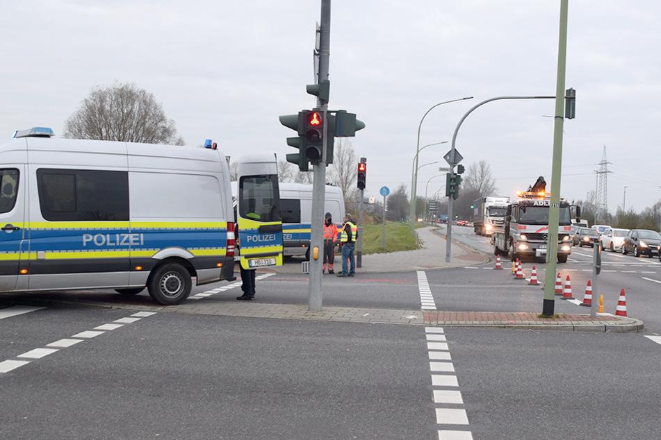 An dieser Kreuzung ereignete sich der Unfall.v