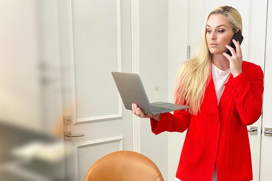 Ex-Ski-Star Lindsey Vonn zeigt, wie sexy sie im Homeoffice arbeitet
