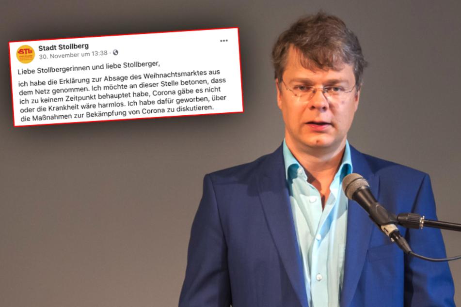 Stollbergs OB Marcel Schmidt (47, Freie Wähler) kritisierte in einem Brief an die Stollberger die Corona-Maßnahmen der Bundesregierung. Nun entschuldigte sich der 47-Jährige (Archivbild).