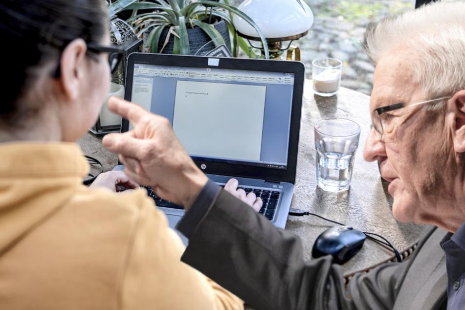 Kretschmann fordert, dass mehr Menschen im Homeoffice arbeiten