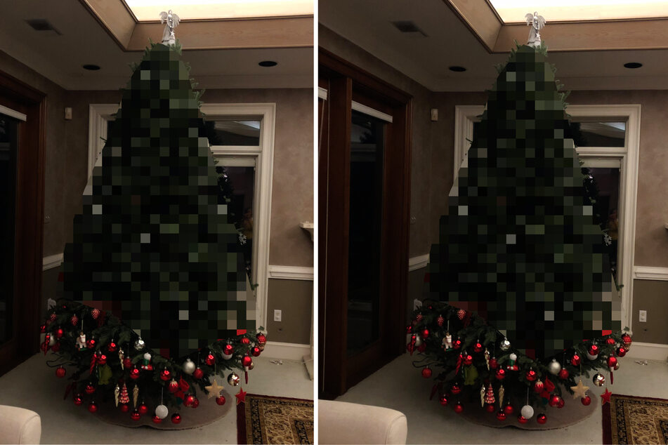Toddler decorates Christmas tree and lights up Twitter