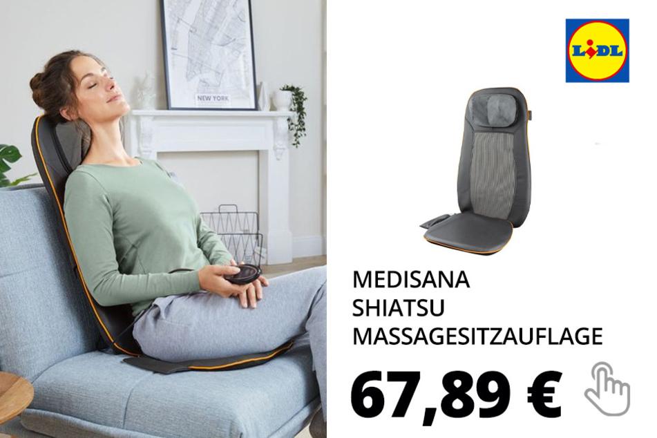 MEDISANA Shiatsu Massagesitzauflage, 3 Massagezonen