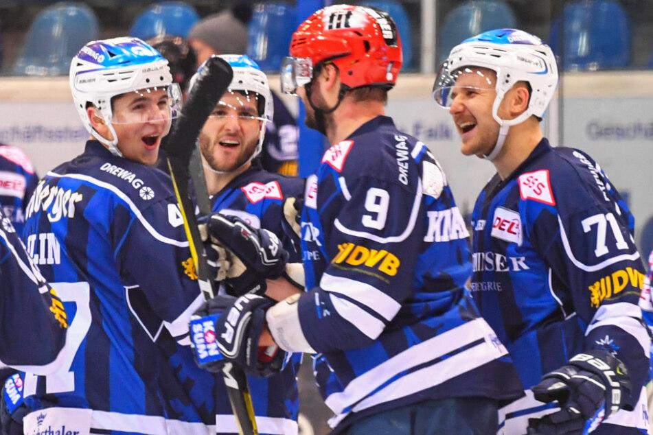 Nach einem packenden Match hatten die Dresdner Grund, die zwei Punkte zu feiern.