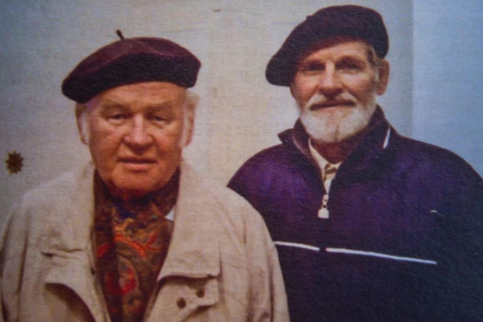 Der inzwischen verstorbene Spender Wolfgang Gelpke (l.) mit seinem Bruder Manfred (80).