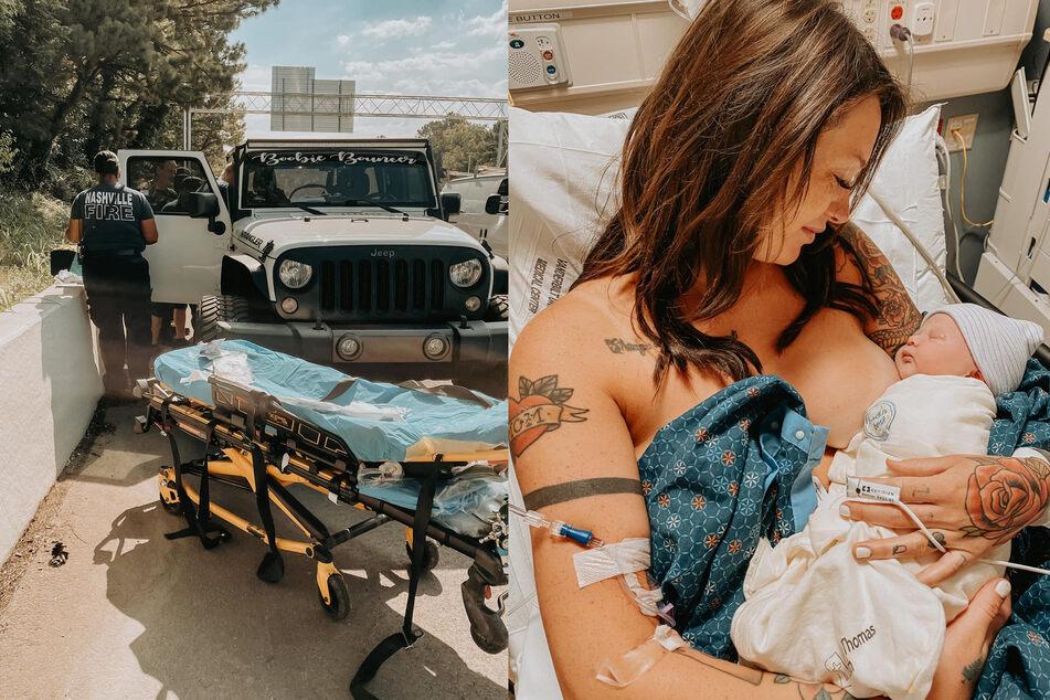Mit dem Krankenwagen wurde Gayla spöter ins Krankenhaus gefahren. Sie und Söhnchen Carson sind wohl auf.