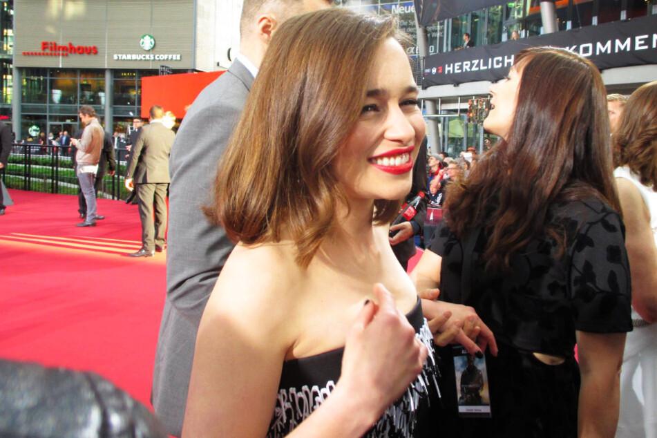 """Emilia Clarke am 21. Juni 2015 bei der Europapremiere von """"Terminator Genisys"""" im Berliner Sony Center."""