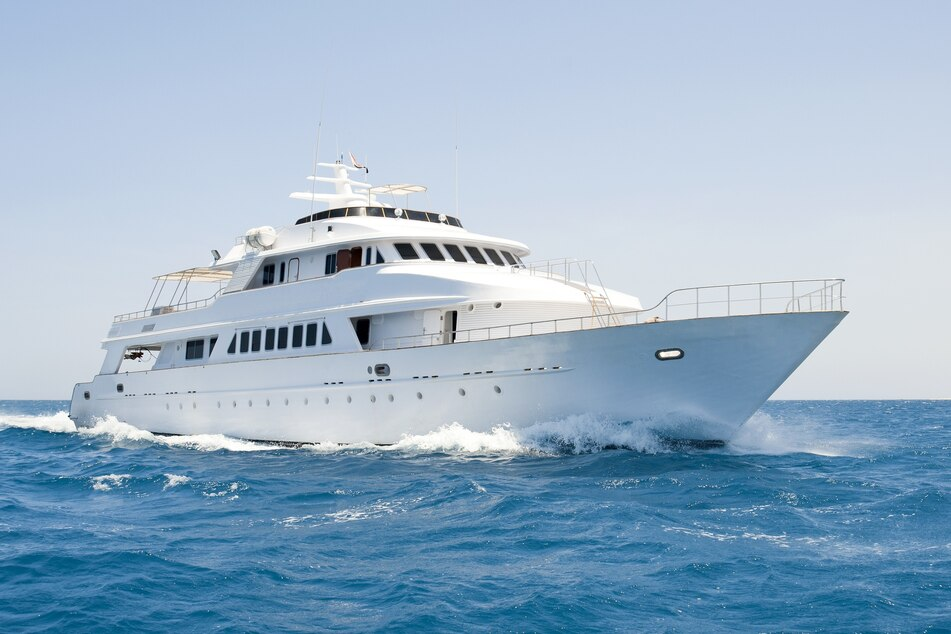 The luxury yacht has several state rooms and a cook (stock image).