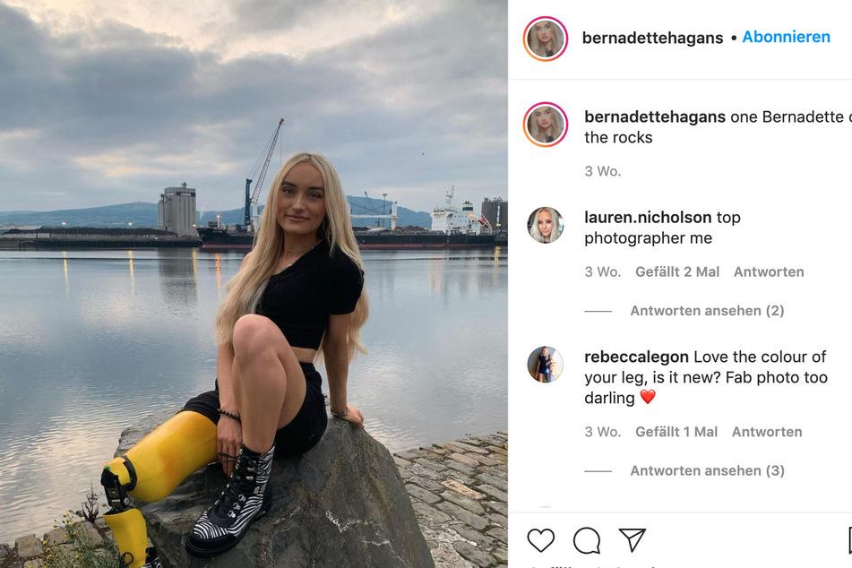 Auf Instagram schon ein Star - Model Bernadette Hagan.