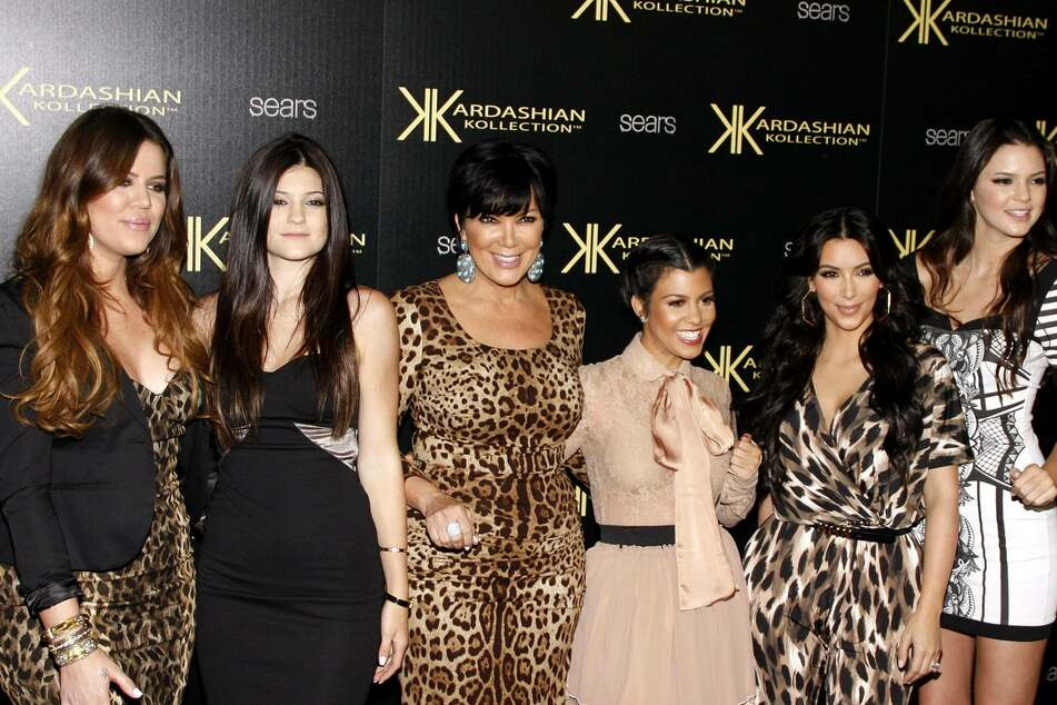 From l. to r.: Khloe Kardashian (l-r), Kylie Jenner, Kris Jenner, Kourtney Kardashian, Kim Kardashian, and Kendall Jenner at the launch party of the Kardashian Collection.