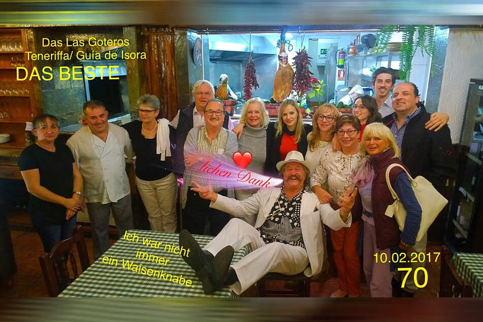 """Am 10. Februar hat Karl-Heinz Bellmann Geburtstag. Schon seinen runden 70. feierte er im Kreise seiner Liebsten im """"Las Goteros"""" in Guía de Isora."""