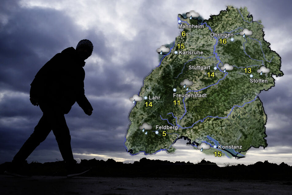 Der Blick aufs Wochenende stimmt wenig optimistisch, der Regen hält in Baden-Württemberg Einzug. (Fotomontage)