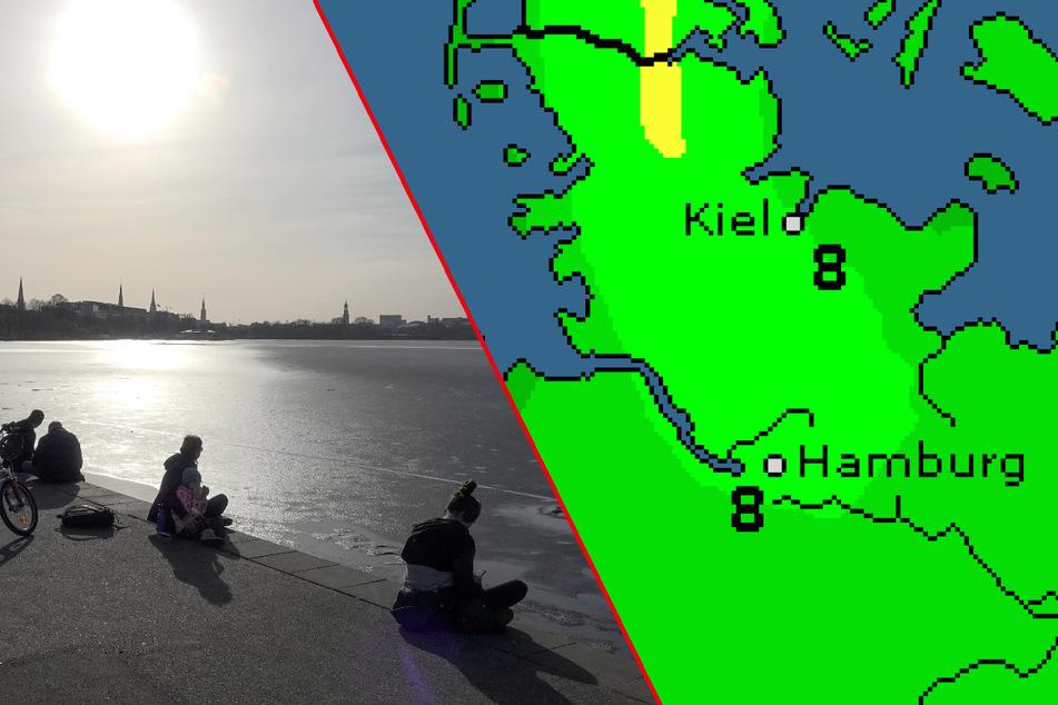 """Wetter in Hamburg: Winter bricht Rekorde, Tief """"Dieter"""" bringt Umschwung"""
