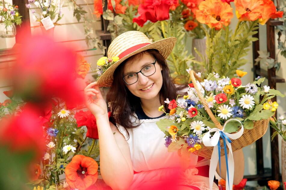 Jasmin Richter (19) ist das aktuelle Sebnitzer Blumenmädchen.