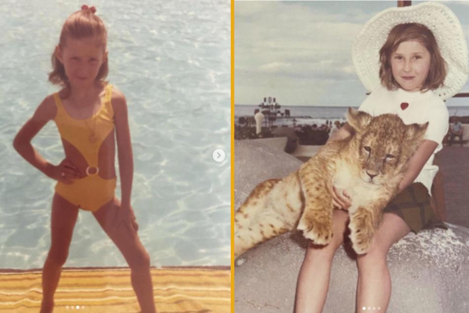 Auf Instagram zeigt Carmen gerne Fotos aus Kindertagen. Ein Schnappschuss mit einem Löwen-Baby auf dem Schoß kommt bei ihren Kritikern aber gar nicht gut an.