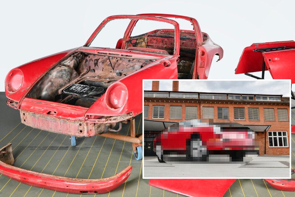 Porsche steht fast 40 Jahre im Schuppen, dann wird er restauriert: So sieht er heute aus