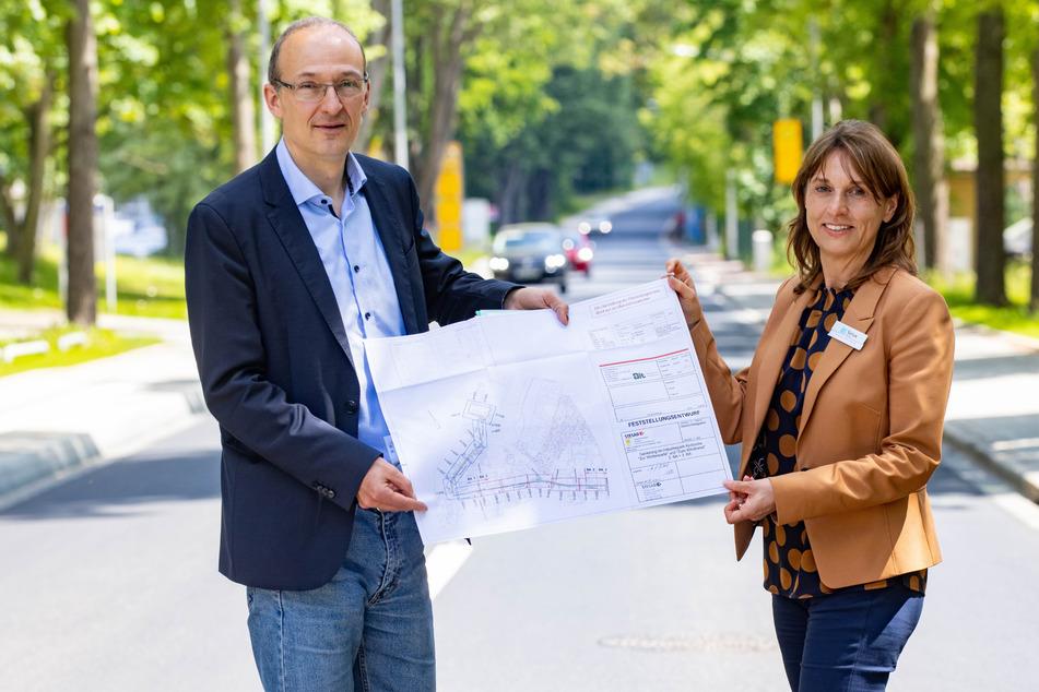 Dresden: 86 Jahre nach dem Bau: Straße im Gewerbegebiet Klotzsche wurde endlich erneuert