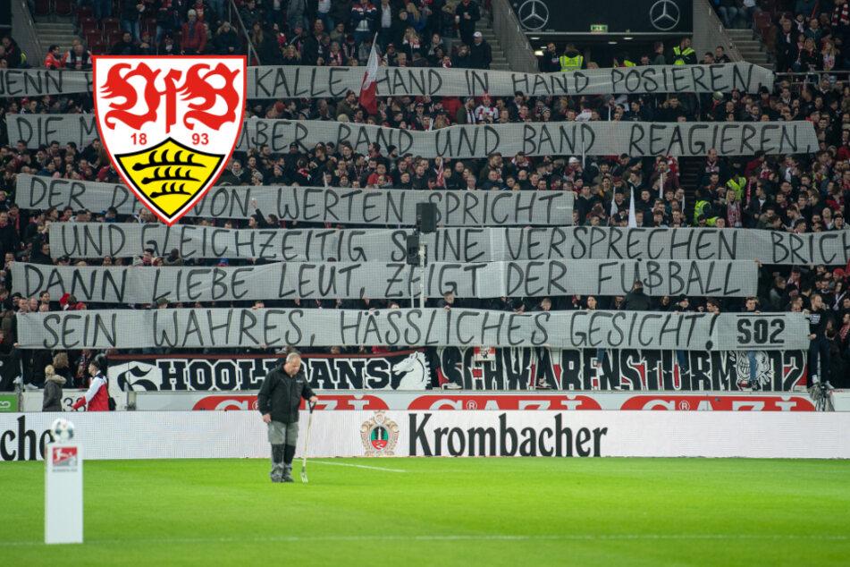 VfB-Stuttgart-Fans protestieren in Reimform gegen Dietmar Hopp und DFB
