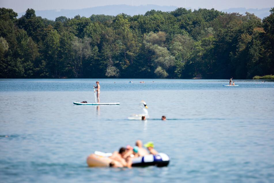 Der Opfinger See im August dieses Jahres.