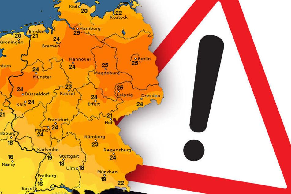 Die Karte von wetteronline.de zeigt: Am Wochenende wird es richtig warm!