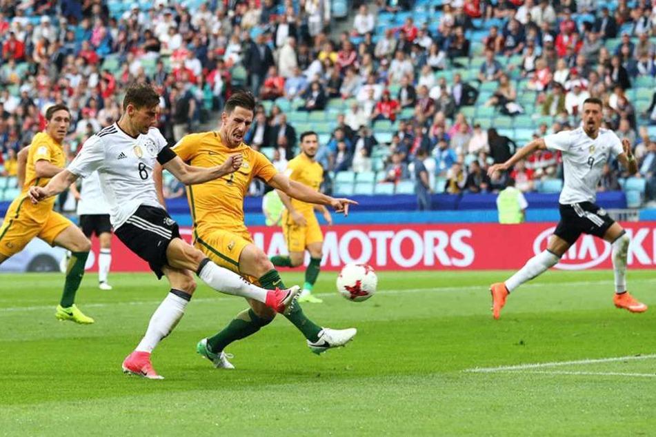Goretzka trifft zum 3:1 für Deutschland.