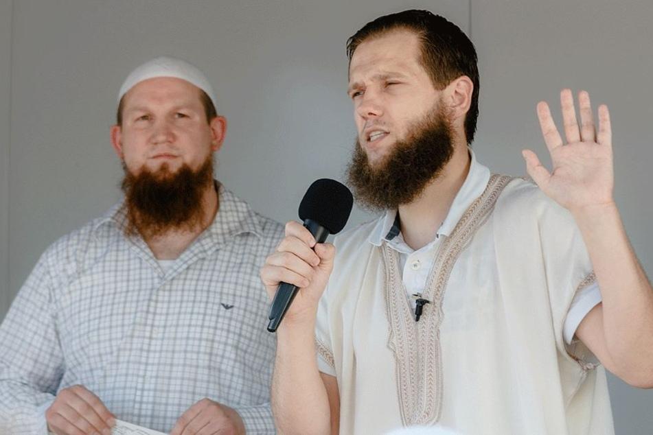 """Die islamistischen Prediger Pierre Vogel (39, links) alias """"Abu Hamza"""" und Sven Lau (36, rechts) alias """"Abu Adam"""" sind in Deutschland mehr als umstritten. (Archivbild)"""