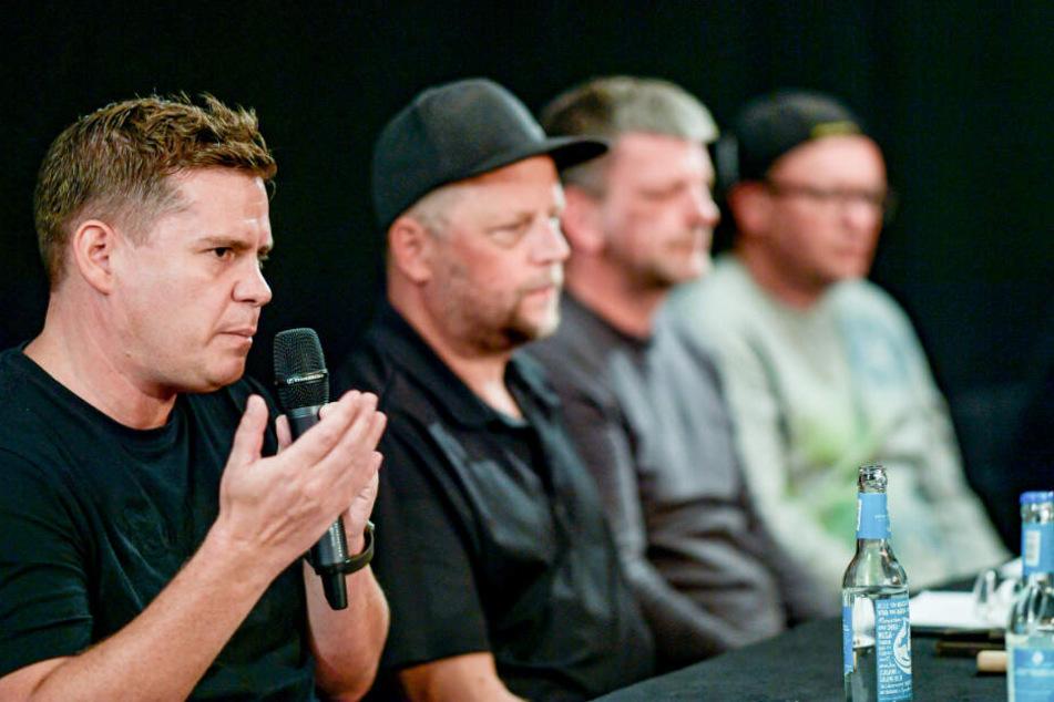 Neben dem Fanta4-Sänger sprachen auch Raphael Brinkert (links), Jörn Menge (Zweiter von rechts) und Lars Lewerenz (rechts).