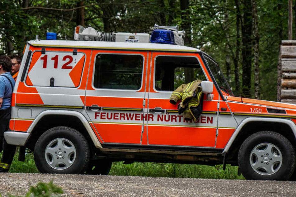 Die Feuerwehr Nürtingen im Einsatz.