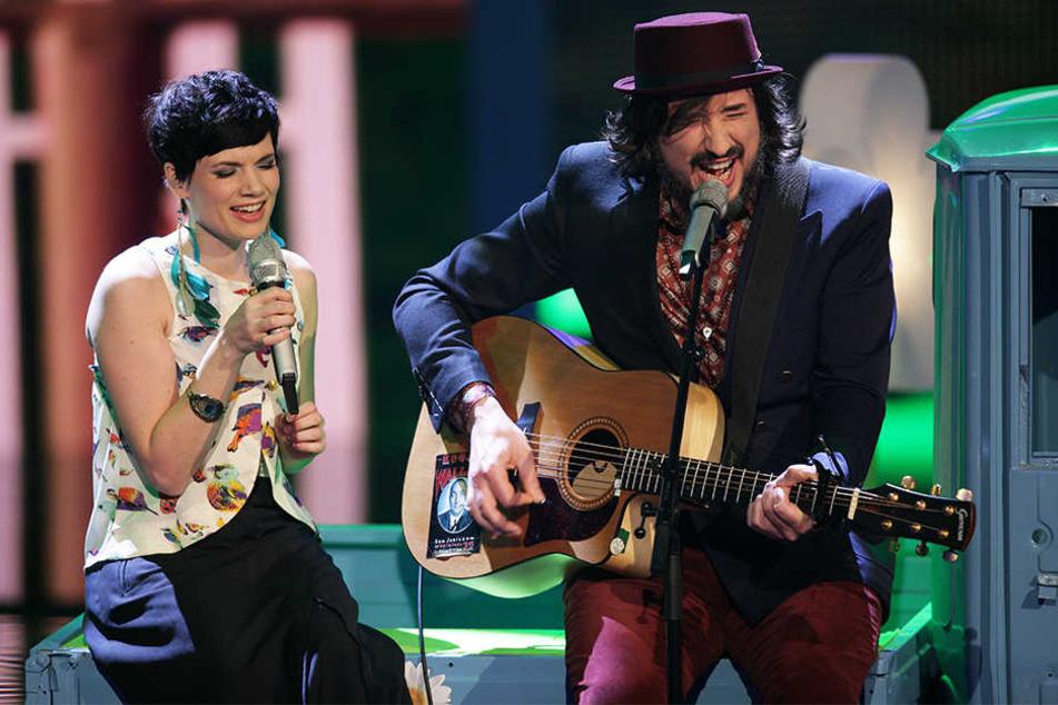 """Steffen Brückner und Sarah Nücken von der Band Mrs. Greenbird wurden 2012 durch die Casting-Show """"X Factor"""" berühmt."""