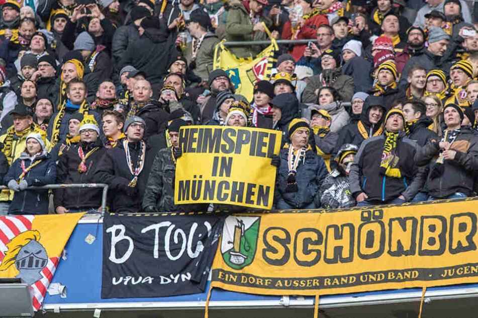 20.000 Dynamo-Fans machten aus der Partie  ein Heimspiel in München.