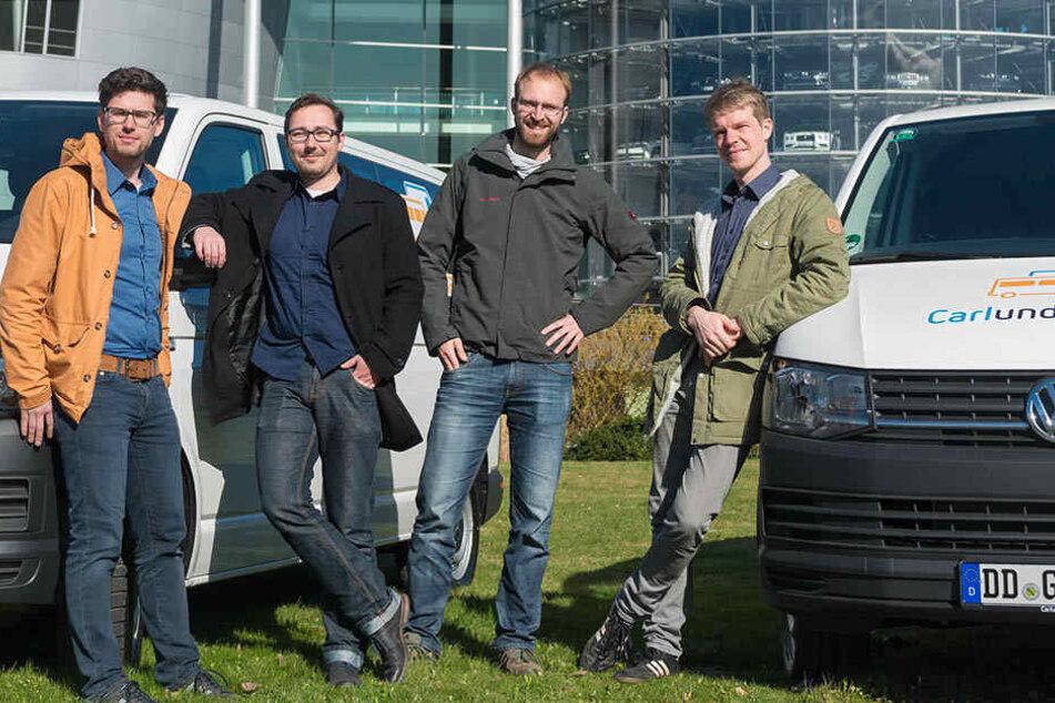 Dresdner ziehen mit Mietautos in die Gläserne Manufaktur