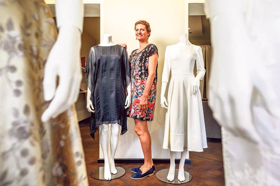 Designerin Dorothea Michalk (36) setzt diesmal auf Schwarz und Weiß.