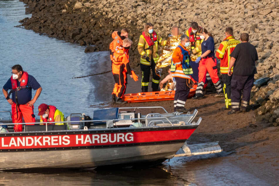 Rettung in letzter Minute! Feuerwehr zieht Schwimmer aus der Elbe
