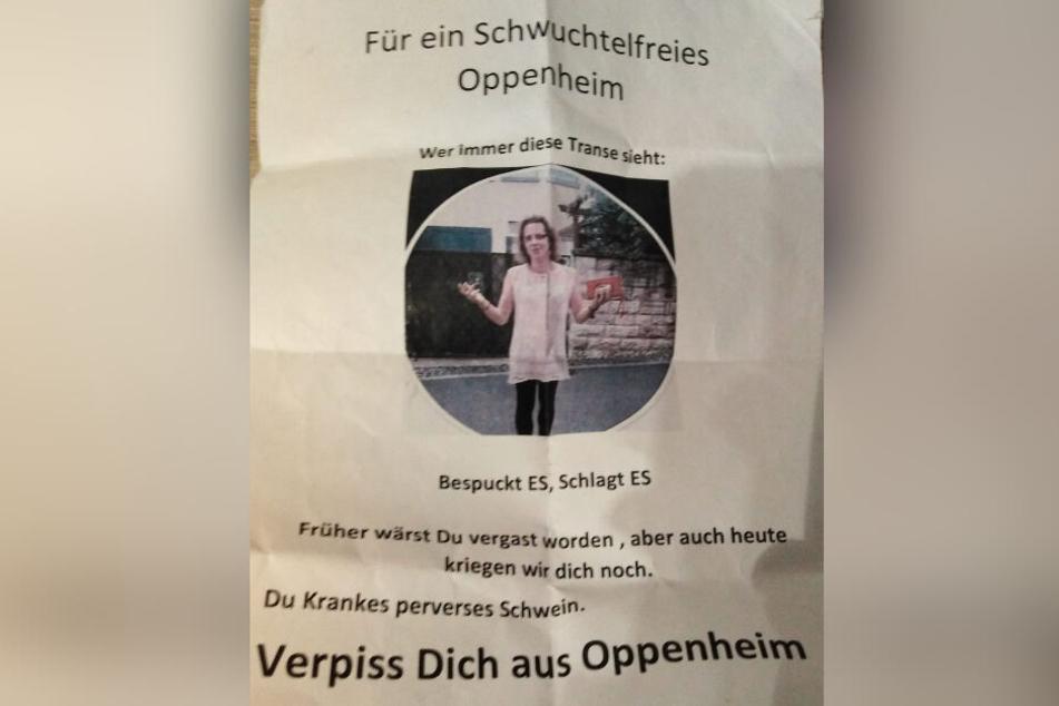 Die Oppenheimerin teilte ein Foto des Zettels über ihren Facebook-Account.