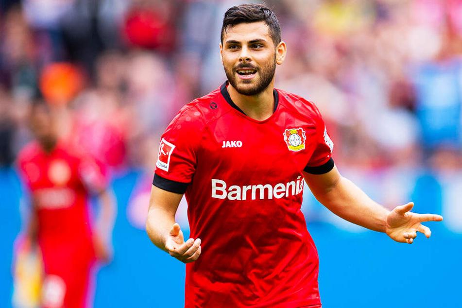 Gewohntes Bild: Kevin Volland jubelt für Bayer 04 Leverkusen über ein Tor.