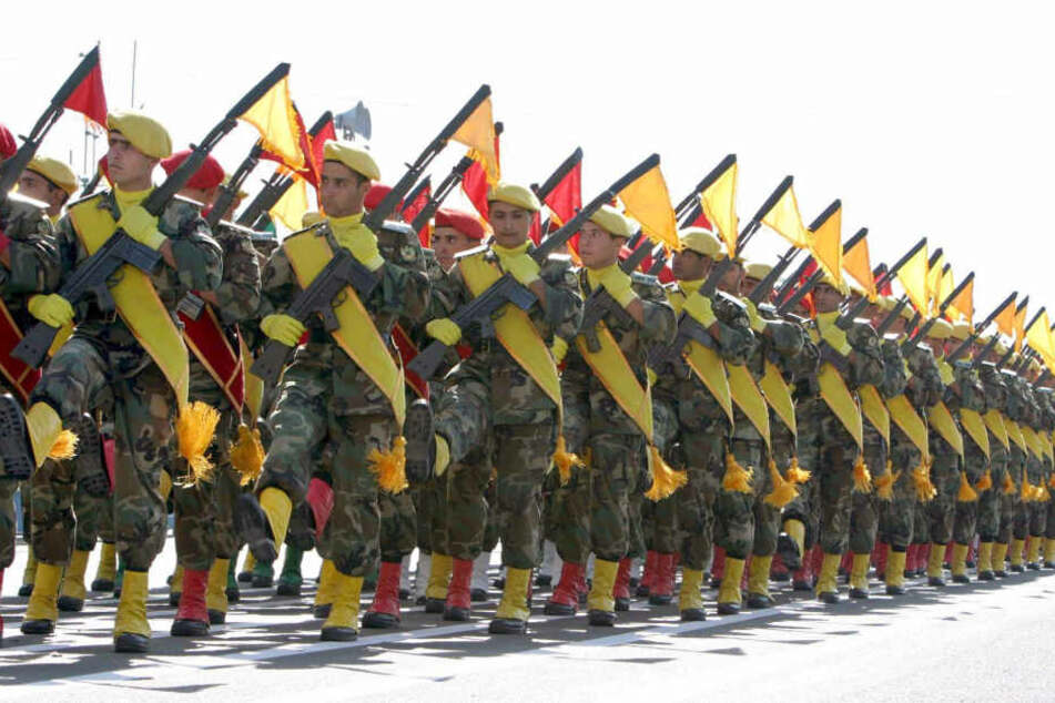 Iranische Soldaten bei einer Parade.