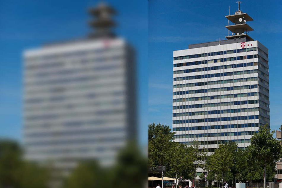 Das Telekom-Haus in der Bielefelder Innenstadt wird zusätzlich vom Bauamt kontrolliert, da es über 60 Meter hoch ist.